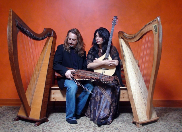 Kolacny Music presents Lisa Lynne & Aryeh Frankfurter:  An Enchanting Evening of Celtic Harps, Rare Instruments, and Wondrous Stories Saturday March 26, 7:30PM at Unity Spiritual Center of Denver