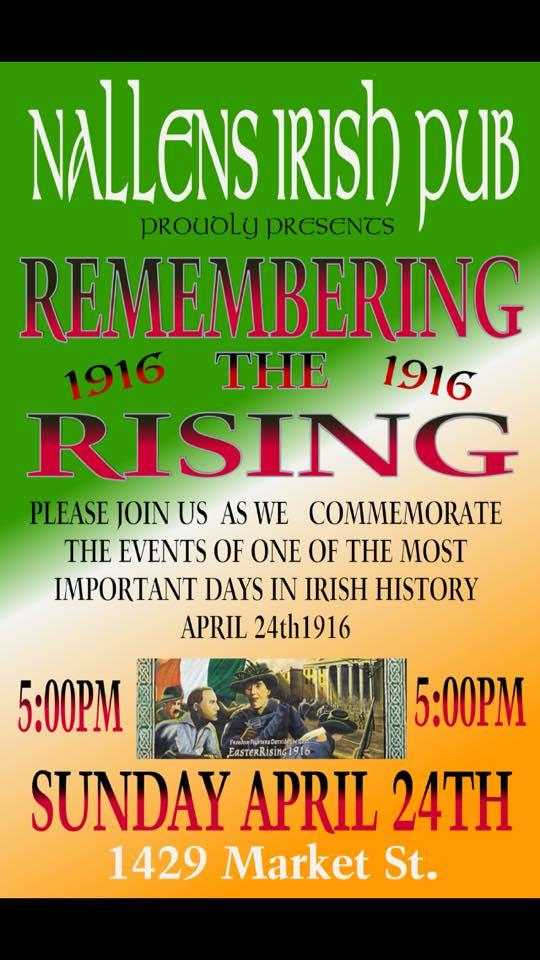 Nallen's Irish Pub to host 1916 Easter Rising April 24