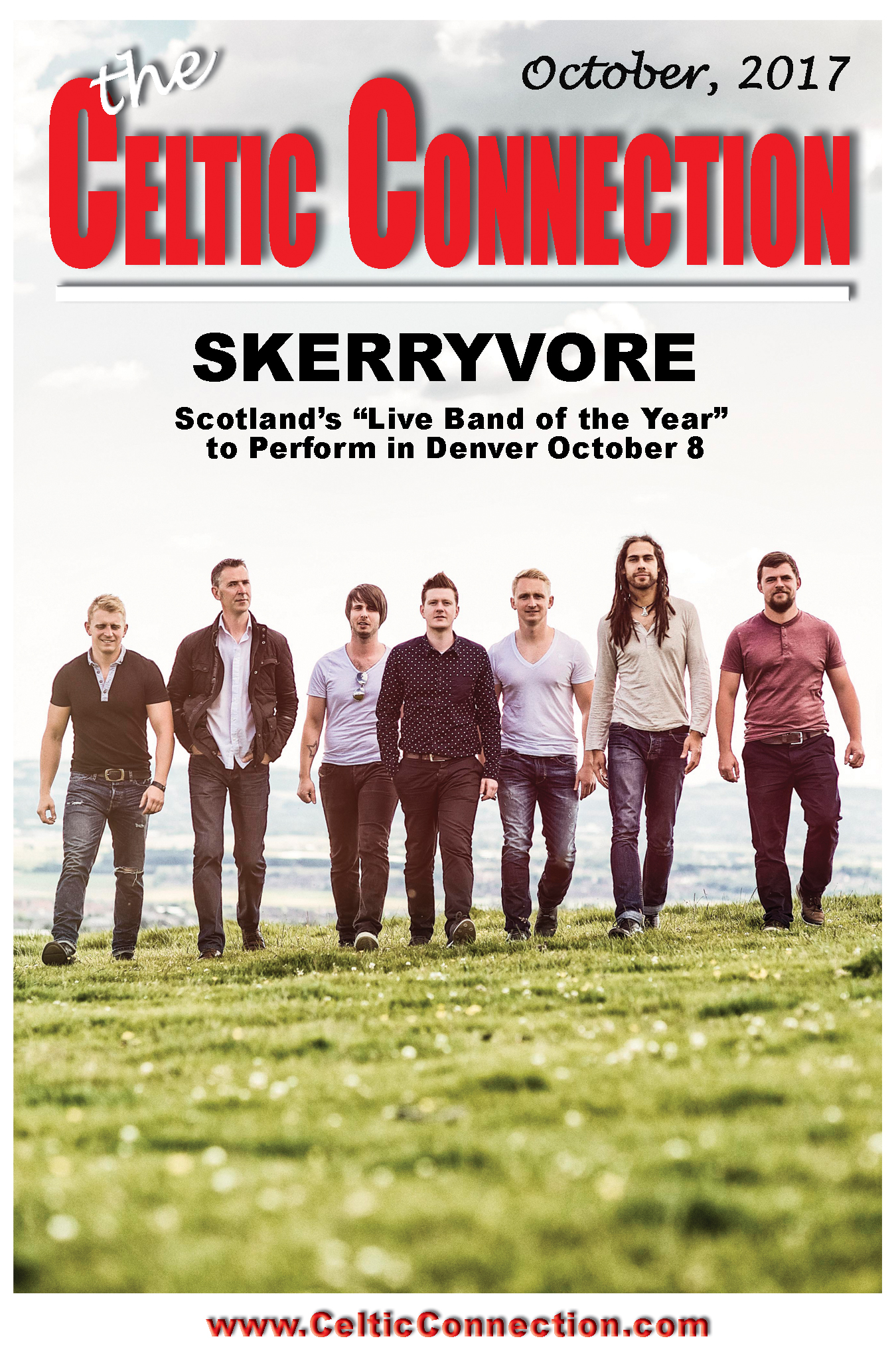 "Scotland's ""Live Band of the Year"" Skerryvore at to perform in Denver October 8"