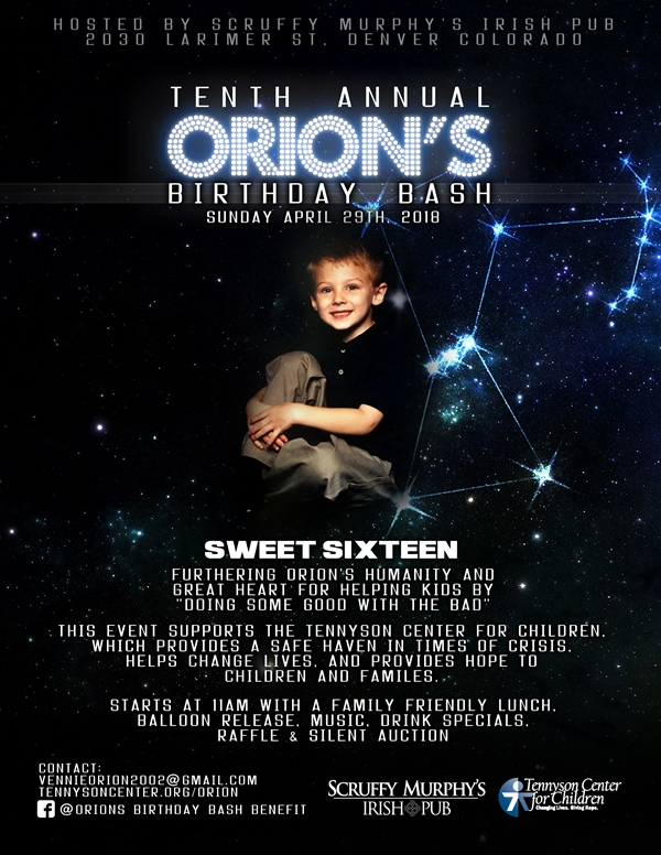 Scruffy Murphy's/Orion's Benefit to aid Tennyson Center for Children