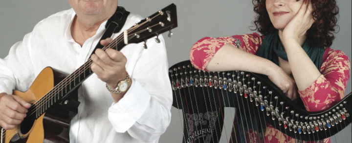 Máire Ní Chathasaigh & Chris Newman in Concert April 22 at The Mercantile in La Veta:  Fundraiser for the International Spanish Peaks Celtic Music Festival