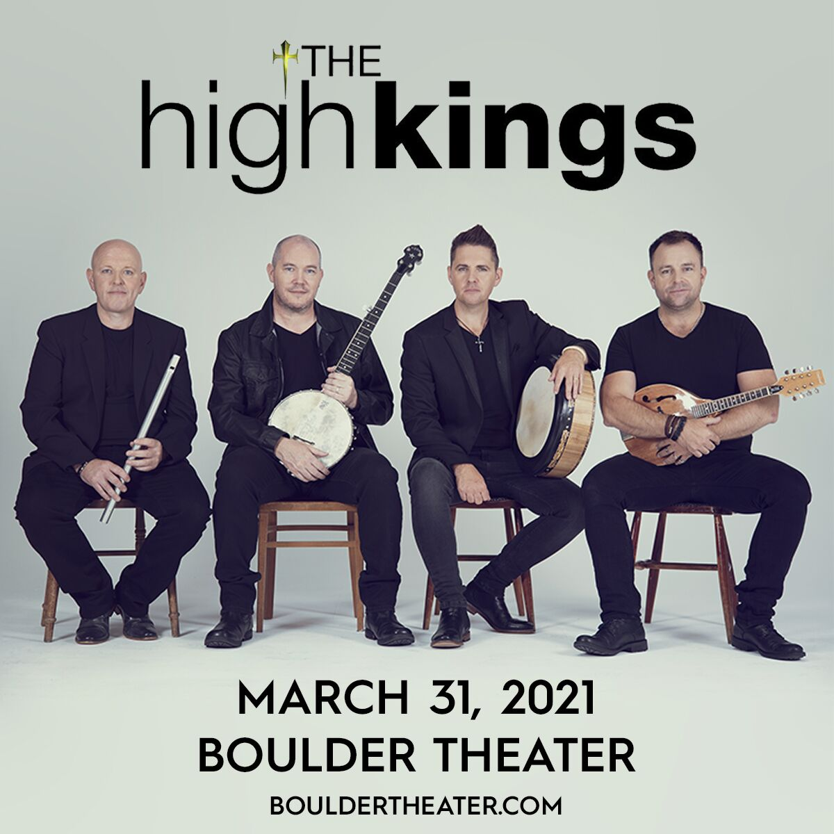 THE HIGH KINGS concert moved to March 31, 2021